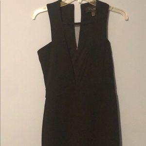 Black front mesh akira dress